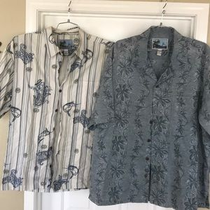 Aftco bluewater 2 Shirt lot Button down size XL